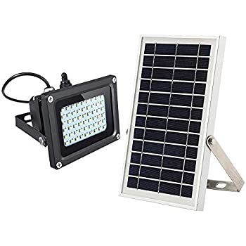 Solar Flood Light,JPLSK Dusk to Dawn 6W Solar Panel 54Leds IP65 Waterproof Solar Powered Flood Light Outdoor Security Light Fixture for Flag Pole,Sign ...