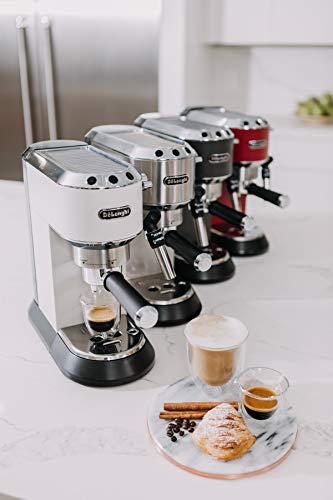 41HUZ5KC1cL - DeLonghi America, Inc EC685M Dedica Deluxe espresso, Silver