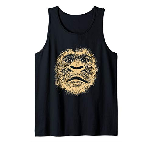Chimpanzee Face  Funny Gift for Ape Fan Gorilla Lover Adult Tank Top