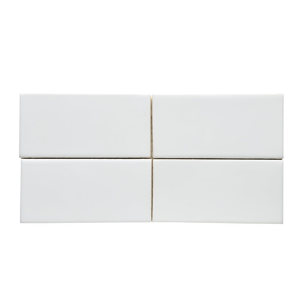Waterworks Architectonics Field Tile 3 x 6 in White Glossy