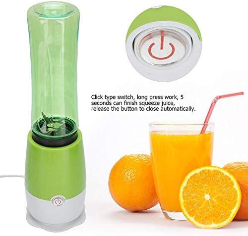 Zouminyy Exprimidor eléctrico de frutas, 500ml Mini portátil portátil Exprimidor de frutas Licuadora Batidora Botella de agitación para el hogar(#1 220V)