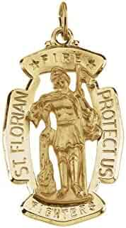 Jewels By Lux 14K Yellow Gold 30x20mm St. Florian Medal
