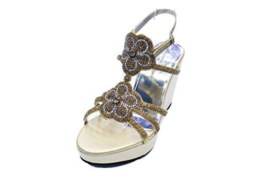 Doré UK femme Sandales Walk Wear amp; pour Awqx8vYwE