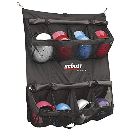 Schutt Training Baseball - Schutt Hanging Batter's Helmet Bag (Black, 55-Lenght x 41-Width-Inch)