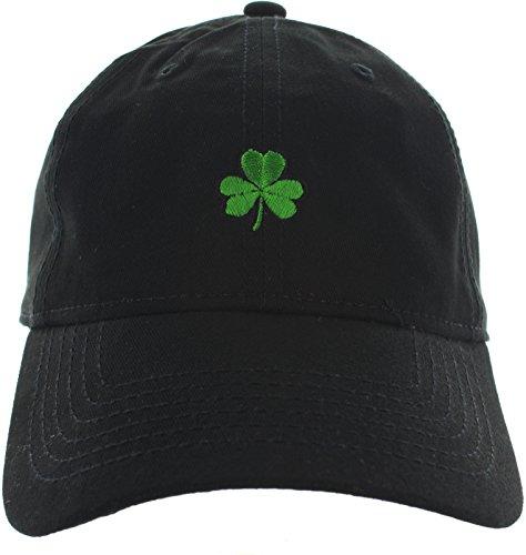 Shamrock Dad Hat Emboidered Black -