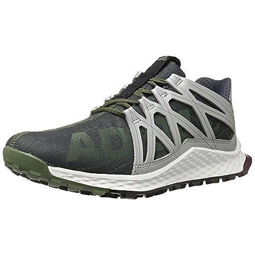 adidas Performance Men's Vigor Bounce M Trail Runner, Base  Green/Black/White, 9 M US