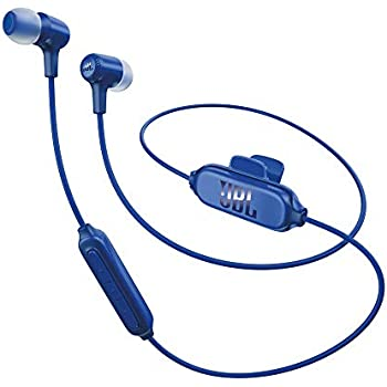 JBL E25BT Bluetooth in-Ear Headphones Blue (Certified Refurbished)