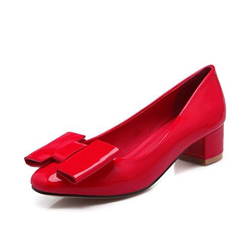 Balamasa Tige Décolletée À Bout Rond En Caoutchouc, Chaussures Rouges, Rouges (35)