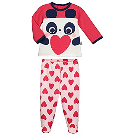 Baby 2 Piece Fleece Pyjamas with Feet MiniLove – 9 Months (74 cm) Petit Béguin