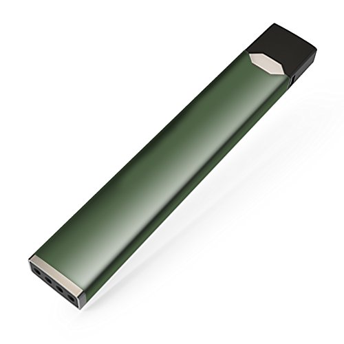 Skin Decal Vinyl Wrap for JUUL Vape stickers skins cover/ Solid Olive Green -