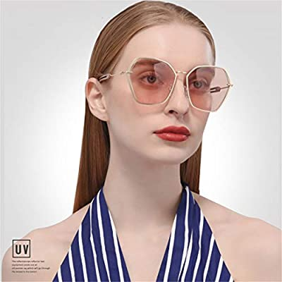 Women Sunglasses Metal Frame Hollow Out Sunglasses UV400 Oversized Eyewear Goggles A134