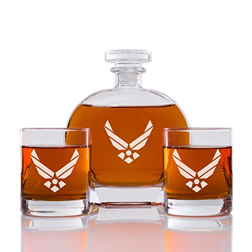 Abby Smith - Whiskey Decanter US Airforce - Set 3PCS