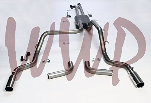 Performance Stainless Steel Dual Cat Back Exhaust Muffler System Kit With Polished Tips For 2007-2009 Toyota Tundra 5.7L Pickup Truck