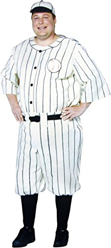 Old Tyme Baseball Player Adult Costume - Plus Size -