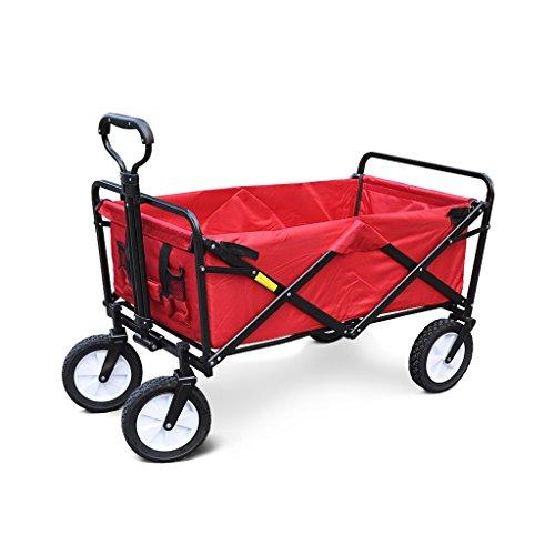 Carro de la compra plegable de 4 ruedas, portátil, carro de empuje-tracción, carro de la mano ligero, carro de la compra...