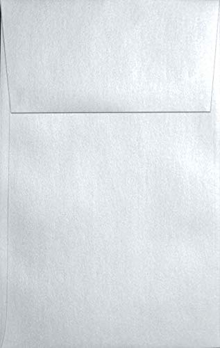 (Metallic White Crystal A10 (6-x-9-1/2) Envelopes 20-pk - 120 GSM (81lb Text) PaperPapers Large Invitation, Social and DIY Mailable Envelopes)