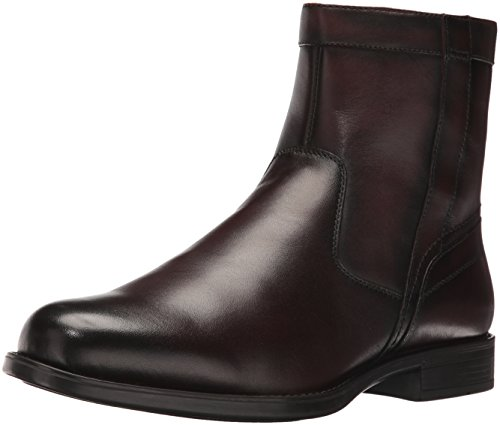 Florsheim Men's Medfield Plain Toe Zip Chelsea Boot, Brown, 10.5 D US by Florsheim
