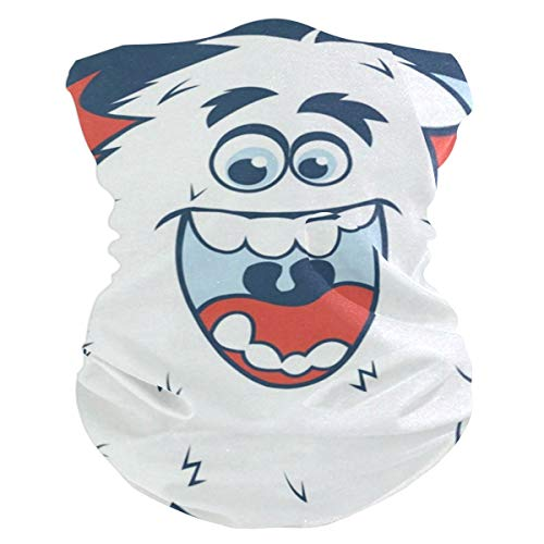 Cartoon Monster Welcome Headband Womens Bandana Mens Balaclava,Neck Warmer,Face Mask,Sweatband Facemask