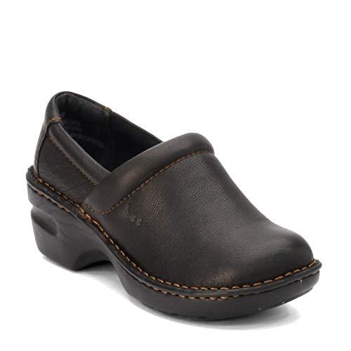 b.o.c. Women's, Peggy Clog Black Leather 8 M