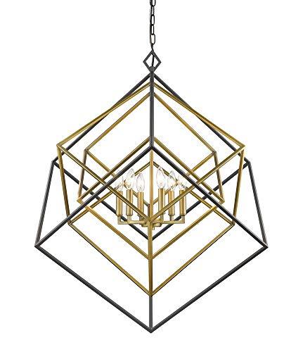 6-Light Chandelier in Olde Brass and Bronze Finish (Olde Brass Chandelier)