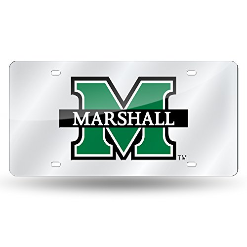 Rico Industries NCAA Marshall Thundering Herd Laser Inlaid Metal License Plate Tag, ()