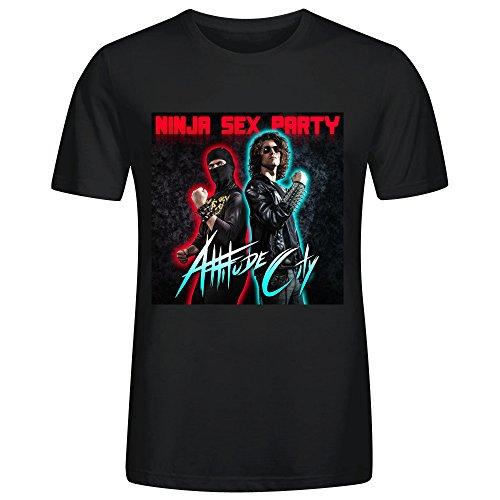 Ninja Sex Party Attitude City T-shirt For Men Black (Party City Alabama)