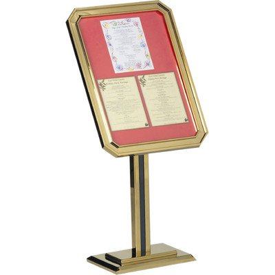 Single Pedestal Ornamental Sign and Poster Stand Base and Frame Color: - Single Pedestal Aarco