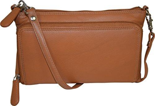 (Pielino Women's Genuine Leather with Organizer (Camel))