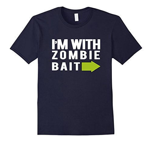 His And Her Zombie Costumes (Mens Funny Zombie Bait Halloween Scary Gift T-Shirt Large Navy)