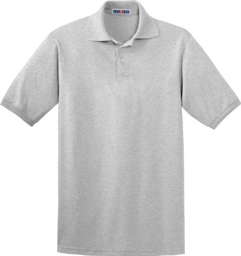 Jerzees 5,6oz. 50/50de la Hombres Jersey Polo con SpotShield Gris - Cendre