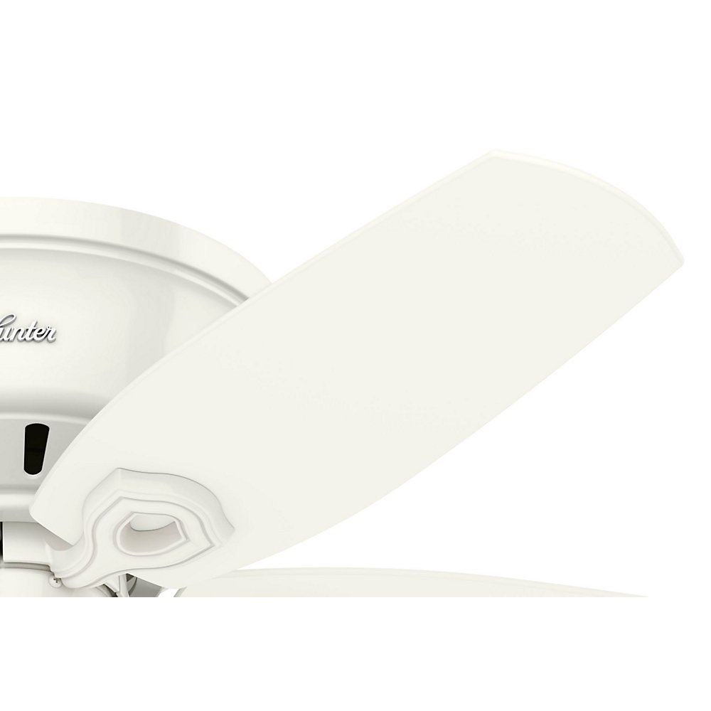 Hunter 51090 42'' Builder Low Profile Ceiling Fan with Light, Snow White by Hunter Fan Company (Image #4)