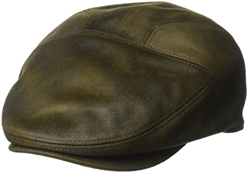 - Henschel Men's Faux Ultra-Suede Leather New Shape Ivy Hat, Distressed Brown, X-Large