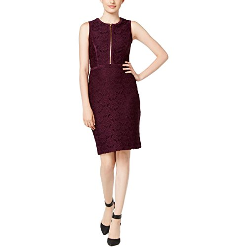 Zip Front Sheath Dress - 1
