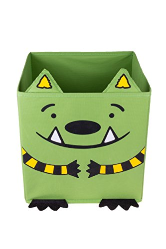 Jonathan James and the Whatif Monster Collapsible Storage Organizer by Clever Creations | Officially Licensed | Cube Folding Storage Organizer | Perfect Size Storage Cube for Books, Games, and More! (Cube Monster)