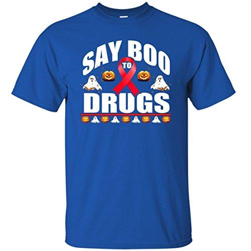 (Red Ribbon Week Shirt Funny Halloween, Say Boo To Dugs Shirt)