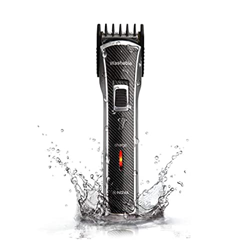 Nova NHT   1020 Waterproof  amp; Rechargeable Cordless: 30 Minutes Runtime Beard Trimmer for Men  Black