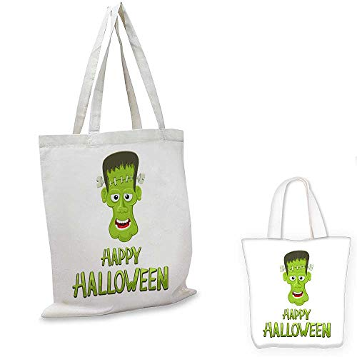 canvas laptop bag Head of Frankenstein and text