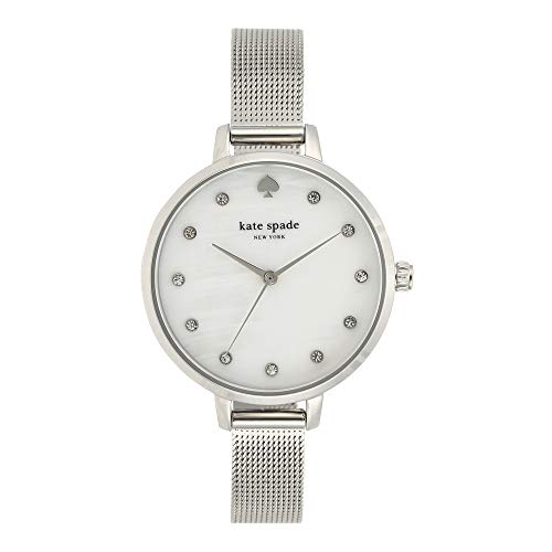 kate spade new york Women's Metro Quartz Watch with Stainless-Steel Strap, Silver, 10 (Model: KSW1490)