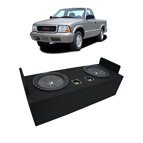 "Fits 1982-2004 GMC Sonoma Extended Cab Truck Kicker CompR CWR12 Dual 12"" Sub Box Enclosure - Final 2 Ohm"