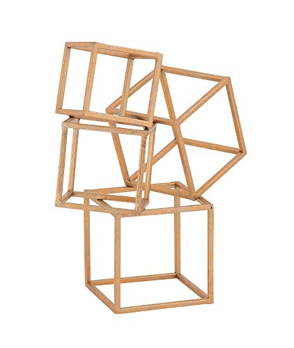 (Woodland Imports 97738 Incredibly Modern Metal Table Decor, 11