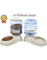 YGJT Distributeur de Nourriture avec Compteur- Alimentation pour Chien/Chat/Croquettes Accesoires Gamelle Animaux Domestiques