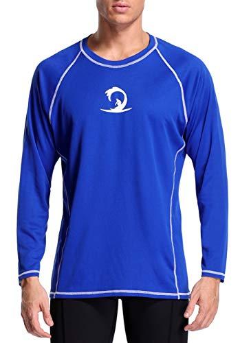 - beautyin Mens Sports Swim Shirt Quick Drying Long Sleeve Rashguard Tee