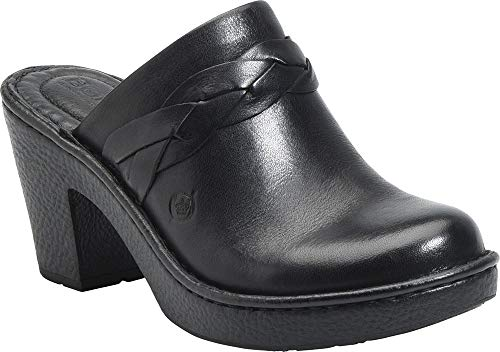 Born - Womens - Vhils Black (Born Leather Clogs)