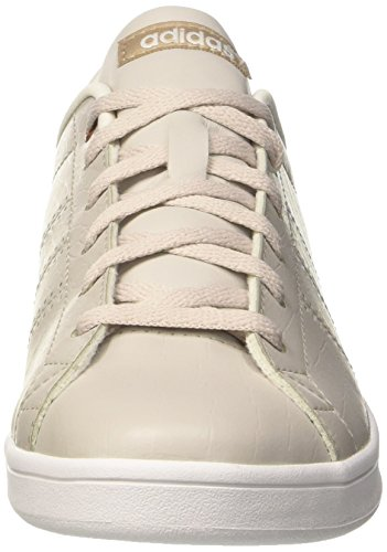 Grey pearl Clean Femme pearl Qt Basses Baskets trace Advantage Gris Grey Khaki Adidas Rw0q88