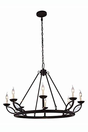 """Elegant Lighting 1488G43VB Charleston Collection Pendant Lamp D43"""" H29"""" 8-Light"""
