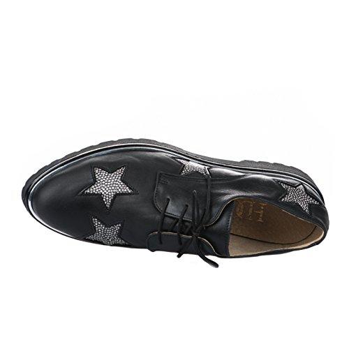 Lacets Noir Chaussures à HDC Femme Noir HqETWpw