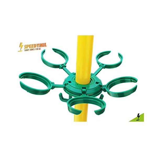 Speedymil Porta Bicchieri e Porta Borse per ombrelloni (Verde) 3 spesavip