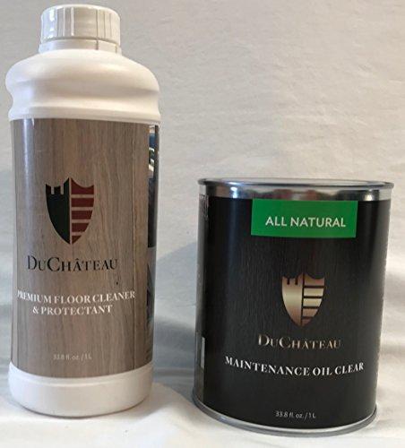 DuChateau Combo Pak DuChateau Floors 33.8 fl oz Premium Floor Cleaner & Protectant 1 Liter and 33.8 fl oz Floors Maintenance Oil, Clear 1 Liter by DuChateau
