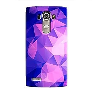 Cover It Up - Dark Purple Pixel Triangles LG LG G4 Hard Case