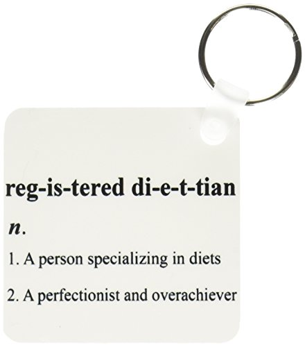3dRose Registered Dietitian Humor Definition Key Chains, Set of 2 (kc_110018_1)